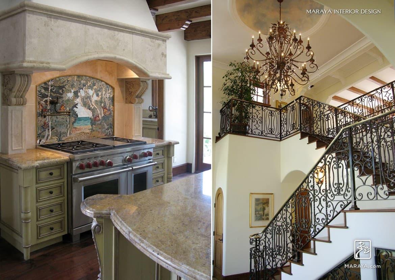 Maraya Interior Design Italian Tuscan Spanish Mediterranean French Farmhouse Kitchen