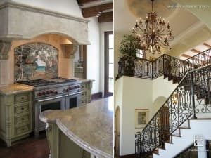 Maraya Interior Design: Italian, Tuscan, Spanish, Mediterranean, French, – Farmhouse – Kitchen