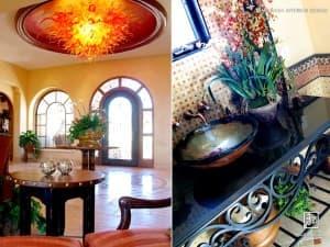 Maraya Interior Design: Powder Room with Mosaics