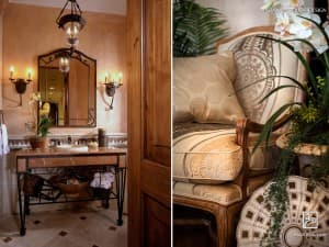 Maraya Interior Design: Italian Powder Room